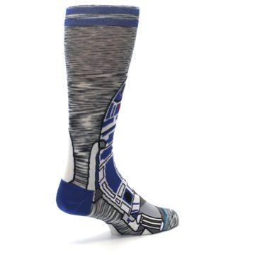 Image of Gray Blue R2-D2 Star Wars Men's Casual Socks (side-1-back-22)