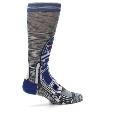 Image of Gray Blue R2-D2 Star Wars Men's Casual Socks (side-1-23)