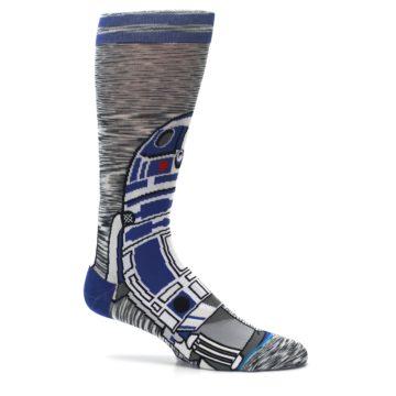 Image of Gray Blue R2-D2 Star Wars Men's Casual Socks (side-1-25)