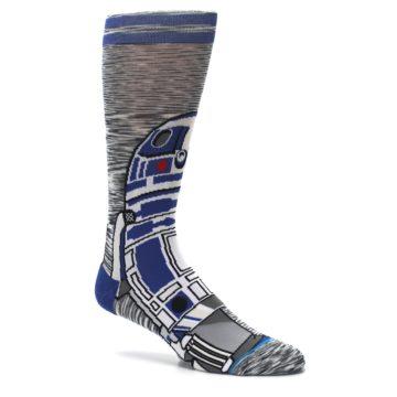 Image of Gray Blue R2-D2 Star Wars Men's Casual Socks (side-1-26)