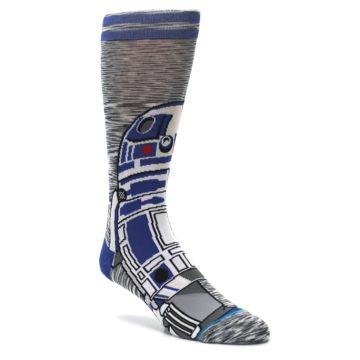 Image of Gray Blue R2-D2 Star Wars Men's Casual Socks (side-1-27)