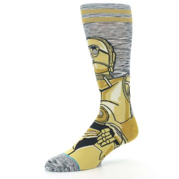 Image of Gold C-3PO Android Star Wars Men's Casual Socks (side-2-09)