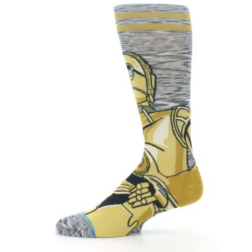 Image of Gold C-3PO Android Star Wars Men's Casual Socks (side-2-11)