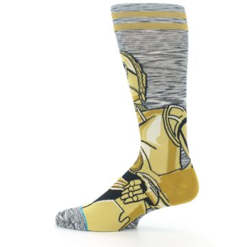 Image of Gold C-3PO Android Star Wars Men's Casual Socks (side-2-12)
