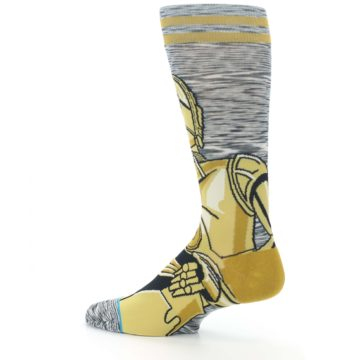 Image of Gold C-3PO Android Star Wars Men's Casual Socks (side-2-13)