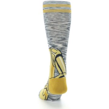 Image of Gold C-3PO Android Star Wars Men's Casual Socks (back-17)