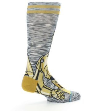 Image of Gold C-3PO Android Star Wars Men's Casual Socks (side-1-23)