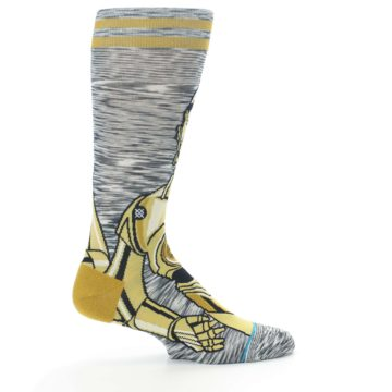 Image of Gold C-3PO Android Star Wars Men's Casual Socks (side-1-24)
