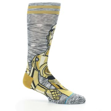 Image of Gold C-3PO Android Star Wars Men's Casual Socks (side-1-25)