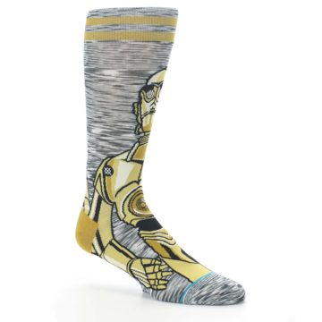 Image of Gold C-3PO Android Star Wars Men's Casual Socks (side-1-26)