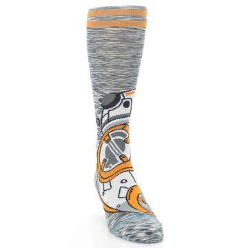 Image of Orange White BB-8 Star Wars Men's Casual Socks (side-1-front-03)