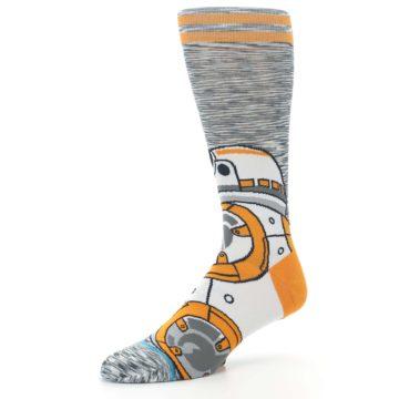 Image of Orange White BB-8 Star Wars Men's Casual Socks (side-2-09)