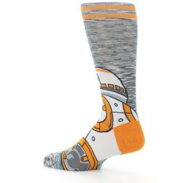 Image of Orange White BB-8 Star Wars Men's Casual Socks (side-2-13)