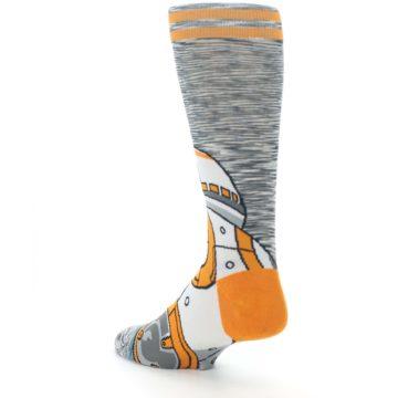 Image of Orange White BB-8 Star Wars Men's Casual Socks (side-2-back-15)
