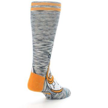 Image of Orange White BB-8 Star Wars Men's Casual Socks (side-1-back-21)