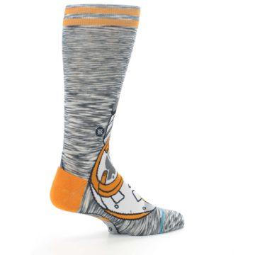 Image of Orange White BB-8 Star Wars Men's Casual Socks (side-1-23)