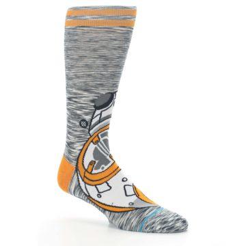 Image of Orange White BB-8 Star Wars Men's Casual Socks (side-1-26)