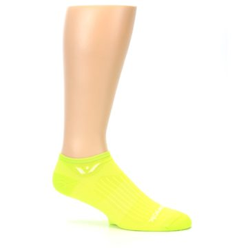 Image of Neon Solid Zero Men's No-Show Athletic Socks (side-1-25)