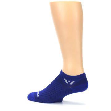 Image of Cobalt Blue Solid Zero Men's No-Show Athletic Socks (side-2-13)