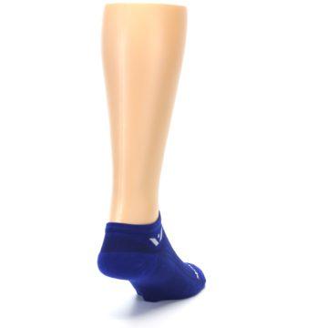 Image of Cobalt Blue Solid Zero Men's No-Show Athletic Socks (side-1-back-20)