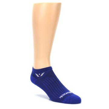 Image of Cobalt Blue Solid Zero Men's No-Show Athletic Socks (side-1-27)