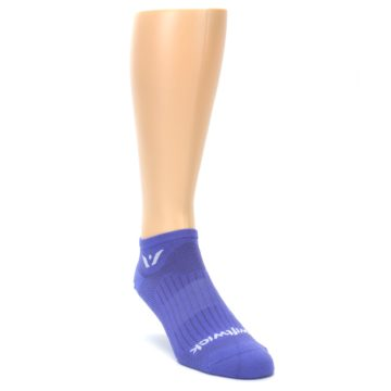 Image of Purple Solid Zero Men's No-Show Athletic Socks (side-1-front-02)