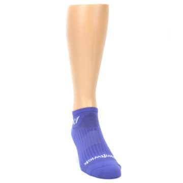 Image of Purple Solid Zero Men's No-Show Athletic Socks (side-1-front-03)
