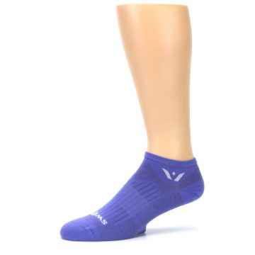 Image of Purple Solid Zero Men's No-Show Athletic Socks (side-2-10)