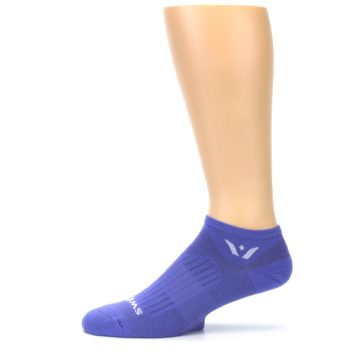 Image of Purple Solid Zero Men's No-Show Athletic Socks (side-2-11)