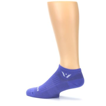 Image of Purple Solid Zero Men's No-Show Athletic Socks (side-2-13)