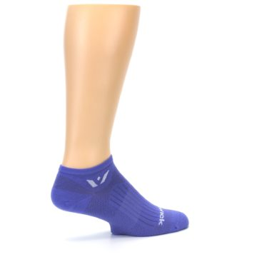 Image of Purple Solid Zero Men's No-Show Athletic Socks (side-1-23)