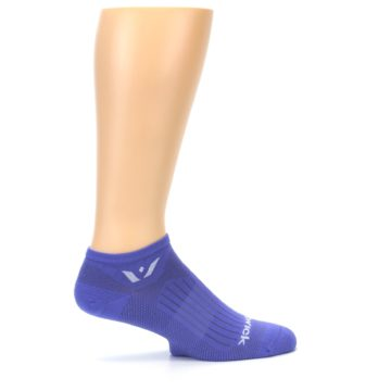 Image of Purple Solid Zero Men's No-Show Athletic Socks (side-1-24)