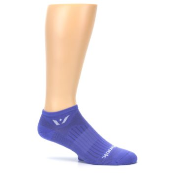 Image of Purple Solid Zero Men's No-Show Athletic Socks (side-1-25)