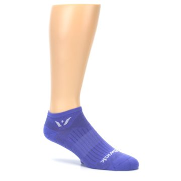 Image of Purple Solid Zero Men's No-Show Athletic Socks (side-1-26)