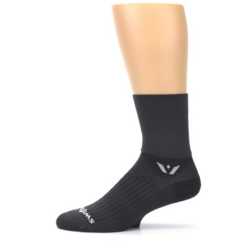 Image of Gray Solid Men's Crew Athletic Socks (side-2-11)