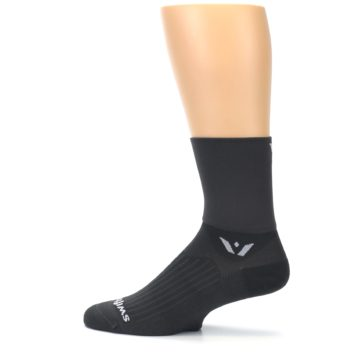 Image of Gray Solid Men's Crew Athletic Socks (side-2-12)