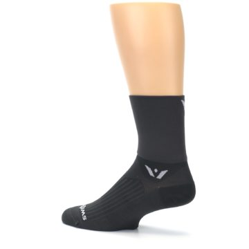 Image of Gray Solid Men's Crew Athletic Socks (side-2-13)