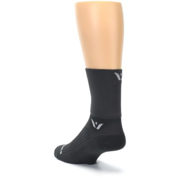 Image of Gray Solid Men's Crew Athletic Socks (side-2-back-15)