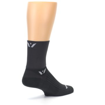 Image of Gray Solid Men's Crew Athletic Socks (side-1-back-22)