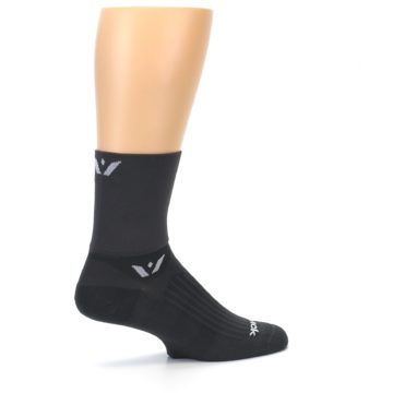 Image of Gray Solid Men's Crew Athletic Socks (side-1-23)