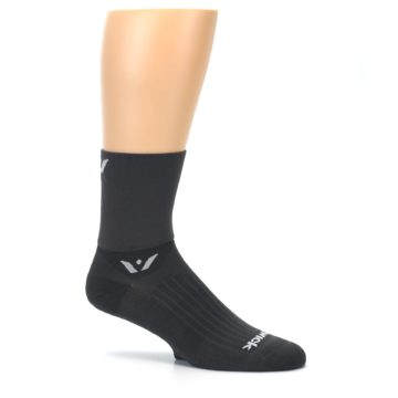 Image of Gray Solid Men's Crew Athletic Socks (side-1-25)