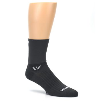 Image of Gray Solid Men's Crew Athletic Socks (side-1-26)