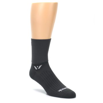 Image of Gray Solid Men's Crew Athletic Socks (side-1-27)