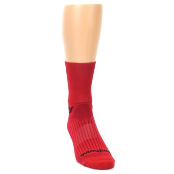 Image of Red Solid Men's Crew Athletic Socks (side-1-front-03)