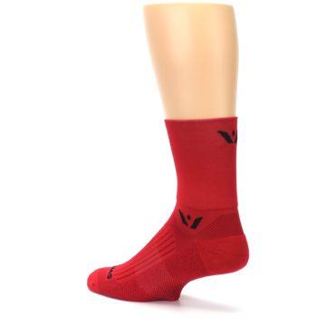 Image of Red Solid Men's Crew Athletic Socks (side-2-back-14)
