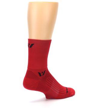 Image of Red Solid Men's Crew Athletic Socks (side-1-back-22)
