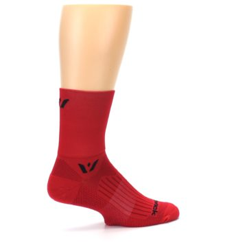 Image of Red Solid Men's Crew Athletic Socks (side-1-23)