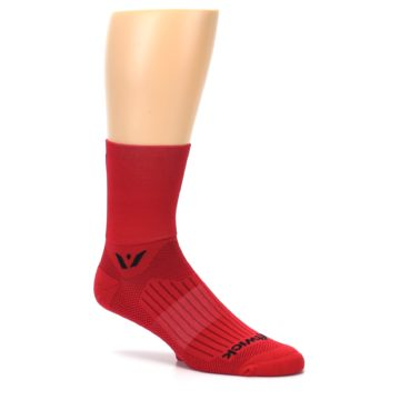 Image of Red Solid Men's Crew Athletic Socks (side-1-26)