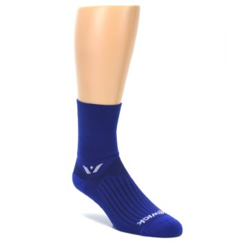 LARGE-Cobalt-Blue-Solid-Mens-Crew-Athletic-Socks-Swiftwick