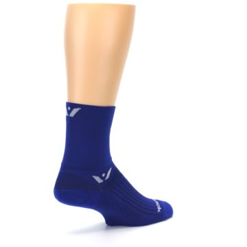 Image of Cobalt Blue Solid Men's Crew Athletic Socks (side-1-back-22)